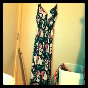Butterfly print maxi dress. She's cool 1x.